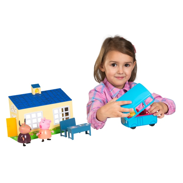 Set scoala si autobuz școlar Peppa Pig set