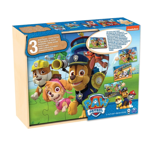Set de 3 puzzle-uri Patrula Catelusilor