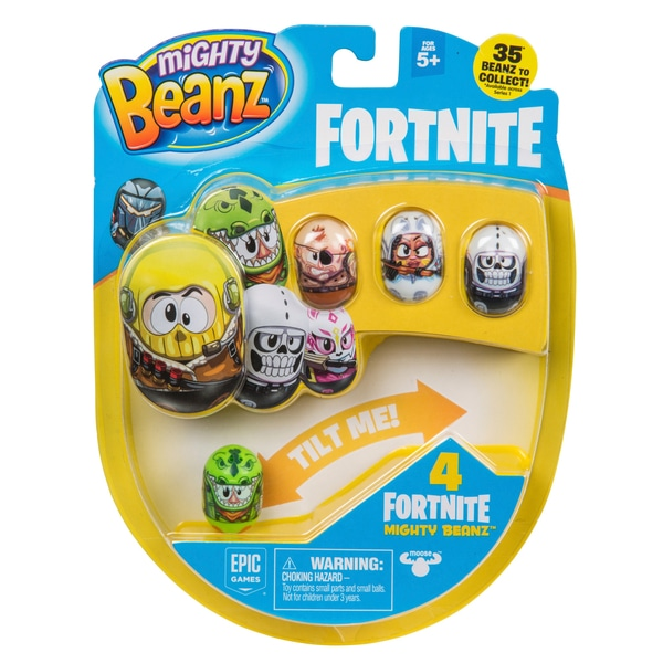 4 Figurine Mighty Beanz Fortnite