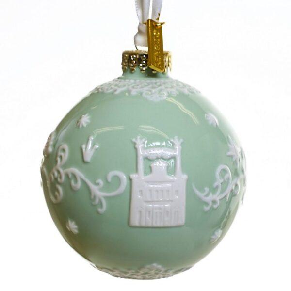 Ornament de Craciun verde Printesa si broasca