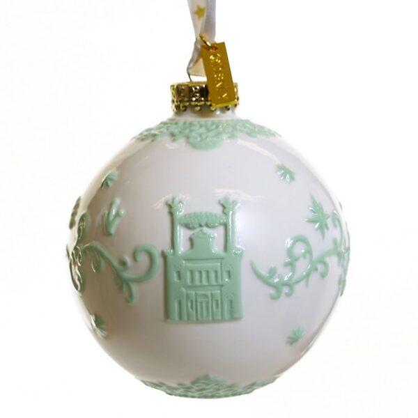 Ornament de craciun alb Printesa si broasca