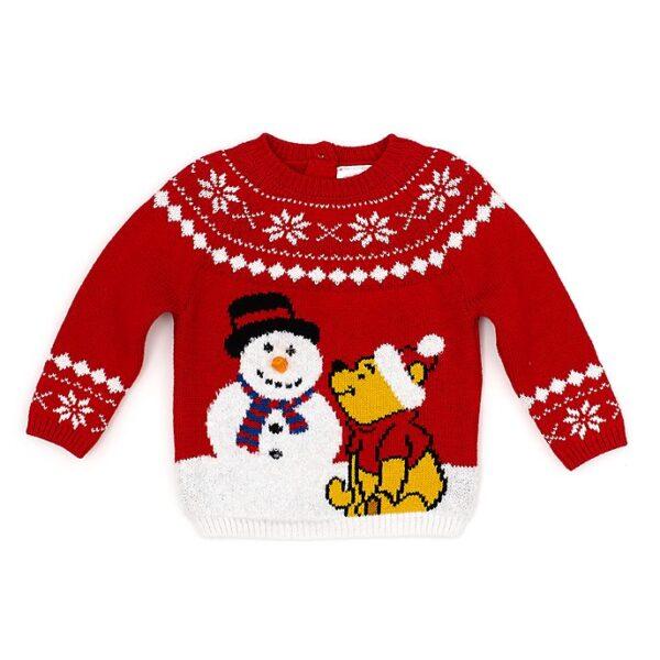 Pulover Winnie the Pooh și omul de zăpada