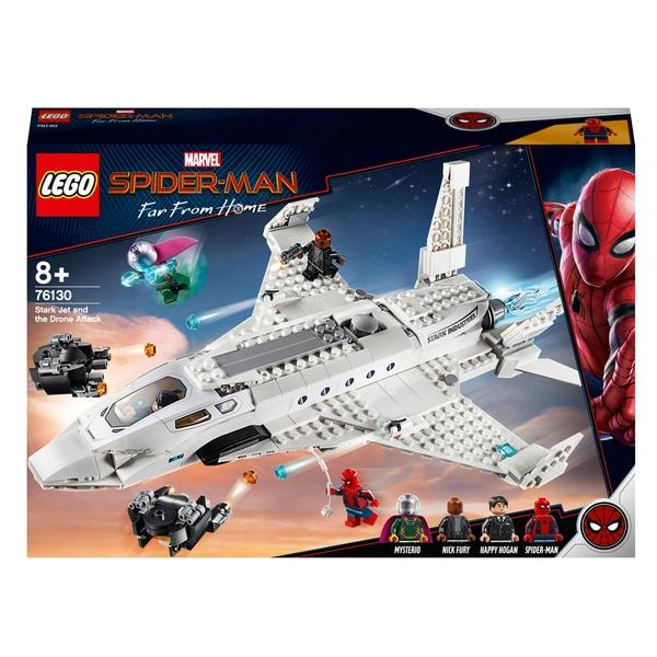 LEGO 76130 Marvel Stark Jet și jucărie de atac drone
