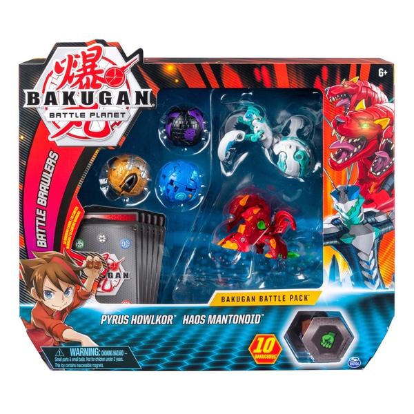 Bakugan Battle Pack Pyrus Howlcor și Haos Mantonoid