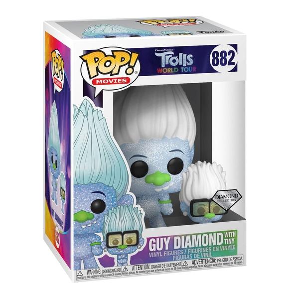 POP! Vinil: Trolls World Tour-Hip Hop Guy Diamond cu Tiny (GL)