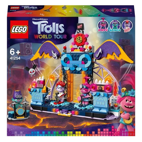 LEGO 41254 Trolls World Tour Volcano Rock City Concert Jucărie