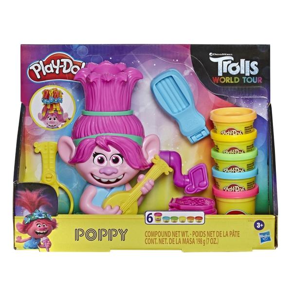 Play-Doh Trolls World Tour Rainbow Hair Poppy Styling Jucărie