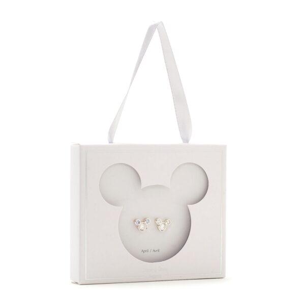 Disney Store Mickey Mouse Aprilie Birthstone Stud Cercei