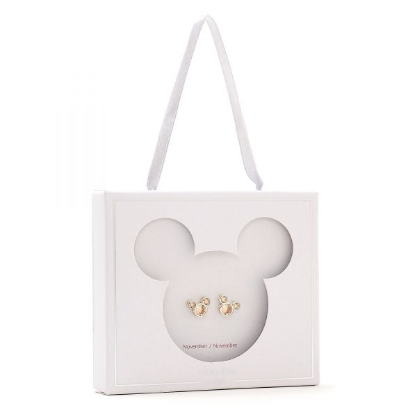 Disney Store Mickey Mouse Noiembrie Birthstone Stud Cercei