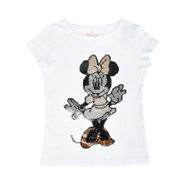 Disneyland Paris Minnie Mouse reversibile Sequin T-Shirt pentru copii