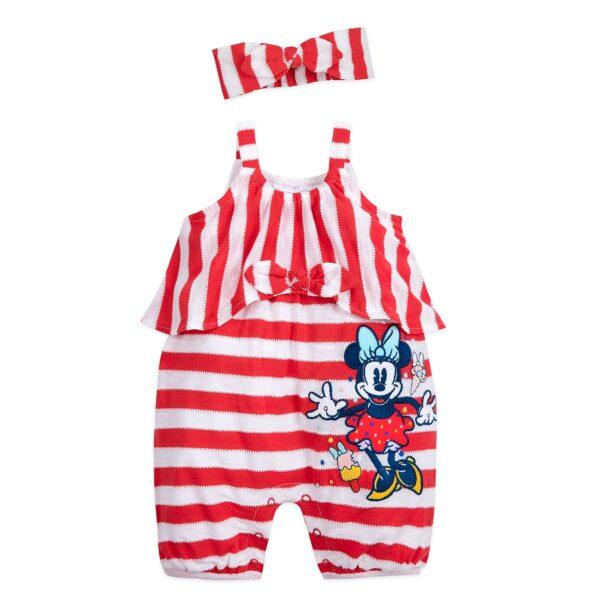 Disney Store Minnie Mouse Baby Romper și set de bandă
