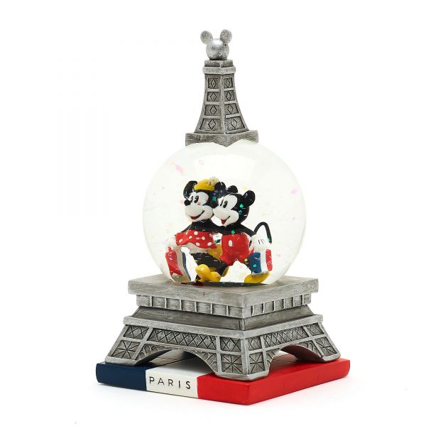 Disney Store Mickey și Minnie Paris Snow Globe
