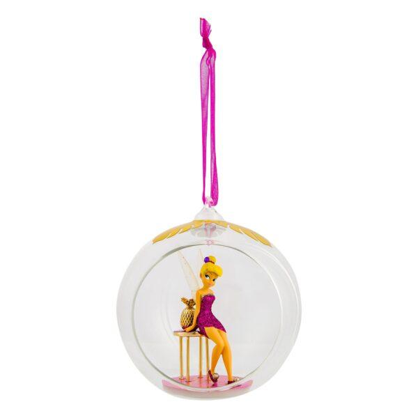 Disneyland Paris Tinker Bell și Piedestal masă de sticlă Bauble
