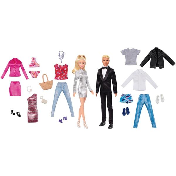 Barbie & Ken Dolls cu Fashion Giftset