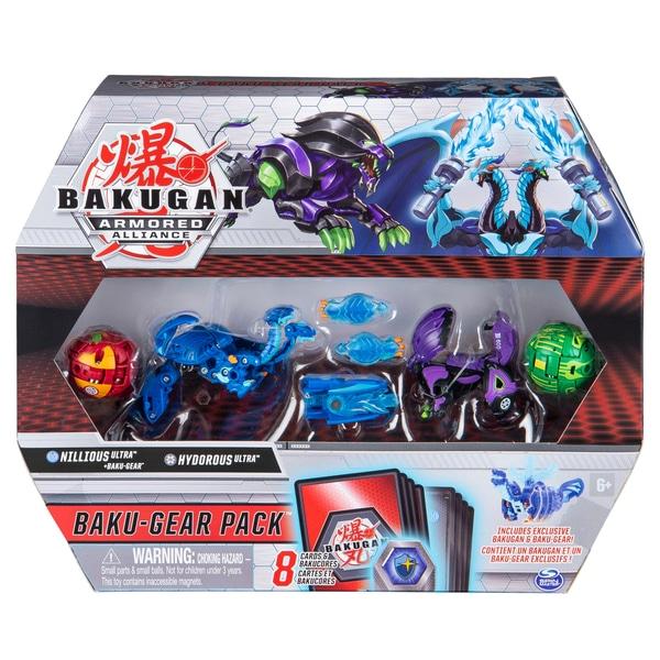 Bakugan Baku-Gear 4-Pack: Nillious Ultra cu Baku-Gear și Hydorous