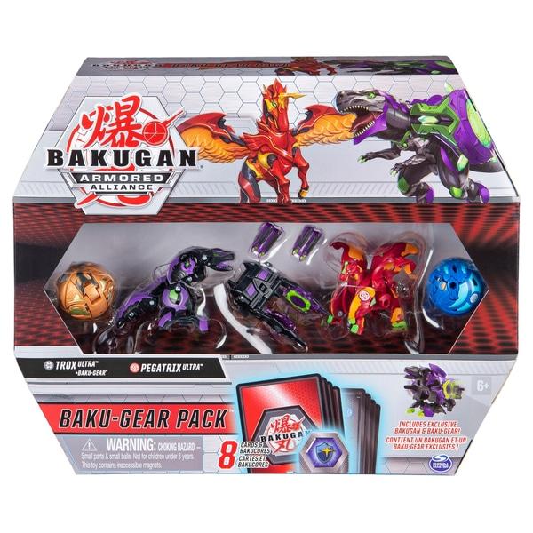 Bakugan Baku-Gear 4-Pack: Trox Ultra cu Baku-Gear și Pegatrix