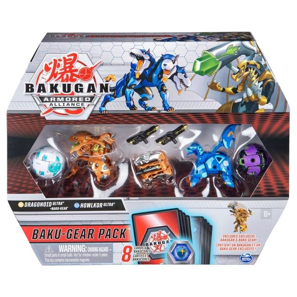 Bakugan Baku-Gear 4-Pack: Dragonoid Ultra cu Baku-Gear și Howlcor