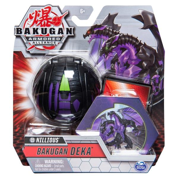 Bakugan Deka Nillious, Armored Alliance Jumbo de colectie Transformarea Figura - Negru