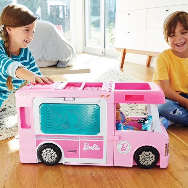 Barbie 3-in-1 DreamCamper și accesorii