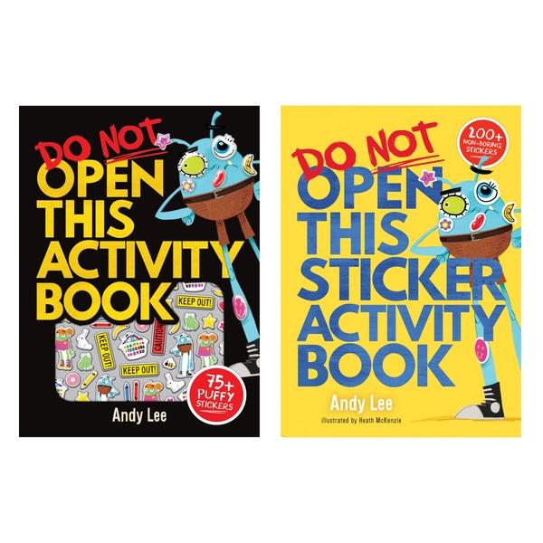 Nu deschideți acest autocolant și carte de activitate, Twin Pack de Andy Lee